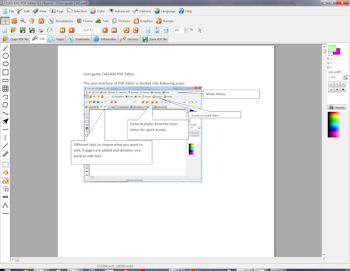 Screenshot of PDF Editor, the best tool to edit pdf files.
